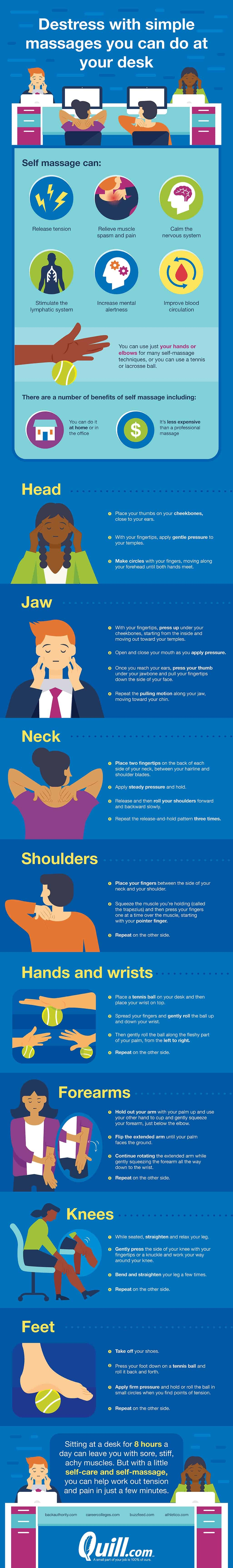 Destress With These Simple Massages You Can Do at Your Desk